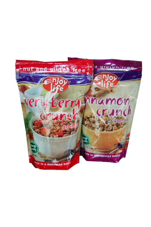 enjoy life_granola snack food packaging_stand-up pouch