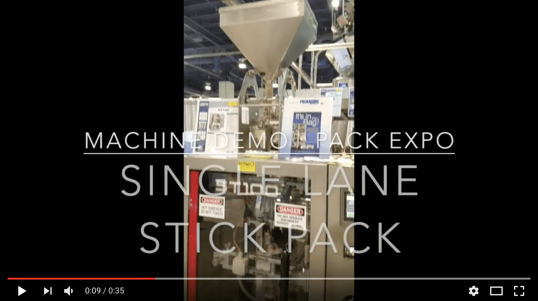 stick pack packaging video