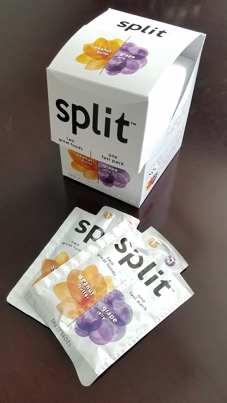 split on the go snack packaging display box
